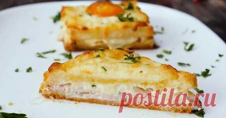 Рецепт классического французского завтрака крок-мадам и крок-месье Тает во рту!
