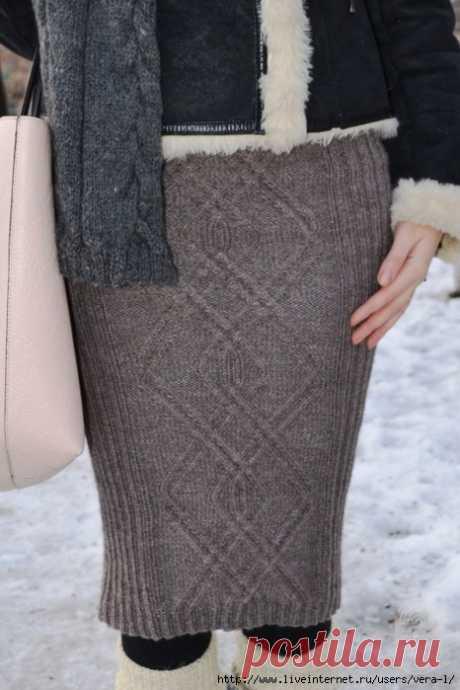 Красивая юбка-карандаш с аранами.
