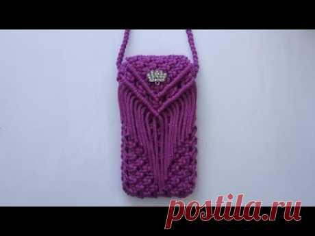 Diy phone bag - YouTube Bahan2 ... Фиолетовая курская веревка 150 см x 10 шт. (5 голов) 100 см x 4 шт. (Правая-левая сторона)