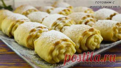 Простое и быстрое печенье из творога с корицей