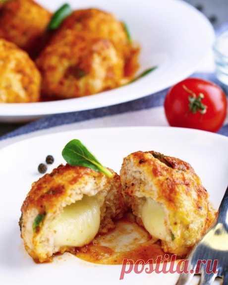 Индюшиные тефтели с моцареллой — Sloosh – кулинарные рецепты