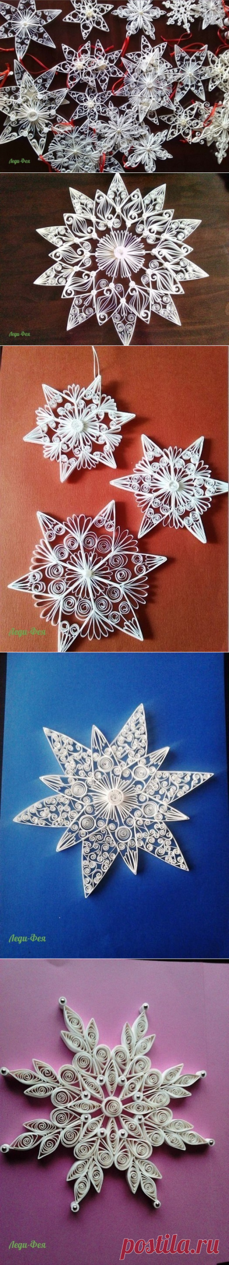 Charm of snowflakes in equipment a kvilling
