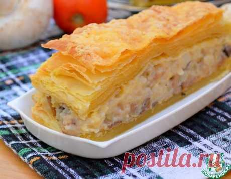 Слоеный закусочный пирог с грибами и овощами – кулинарный рецепт