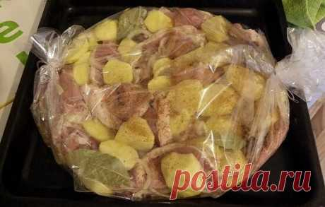 Непревзойдённая курица с картошкой «в рукаве» — СОВЕТ !!!