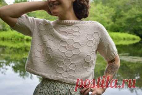 Летний пуловер Summer folk - Вяжи.ру