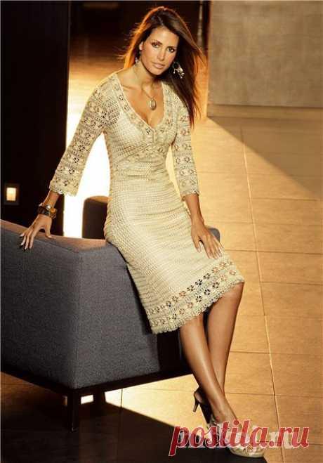 Платье крючком Karen Millen » Ниткой - вязаные вещи для вашего дома, вязание крючком, вязание спицами, схемы вязания