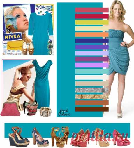ТЕМНО-БИРЮЗОВЫЙ цвет (правильное сочетание цветов в одежде)   Рассмотрите сочетания бирюзового с коралловым лилово розовым, малиново коралловым, зелено желтым, светло песочным, оранжевым сорбетом, сине фиолетовым, сиреневым, светло лавандовым, бордовым, лавандовым, цветом яйца дрозда, кремовым, светло бежевым, серебряным, золотым, бронзовым, коричневым.
