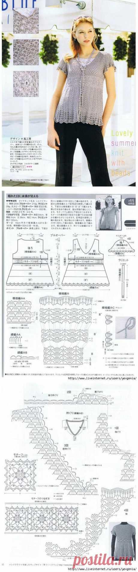 Японский ажур-туника.