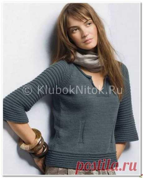 Пуловер с овальным узором | Вязание для женщин | Вязание спицами и крючком. Схемы вязания.