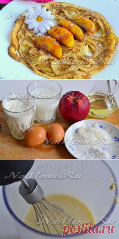 Los crepes chinés con leche, la receta de la foto