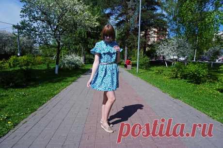 Я шью: Романтичное платье с рюшем - Bezdushna Fashion: DIY, Fashion, Lifestyle