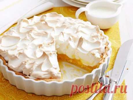 Лимонный пирог-безе.