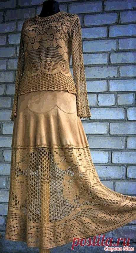 """И вновь костюм от Сантаны(очень люблю её шедевры) Вяжут его и в """"СМ"""" и вот тут https://2yanakara.blogspot.com/2014/06/santana.html?m=1"""
