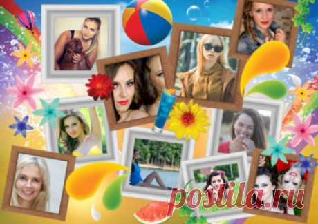 Photo collage maker - online, free and easy   Photovisi