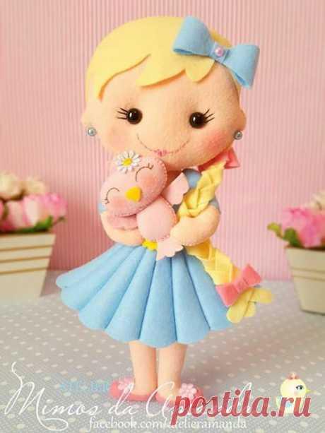 Куклы из фетра своими руками пошаговые мастер классы. Больше 10 шаблонов с выкройками.
