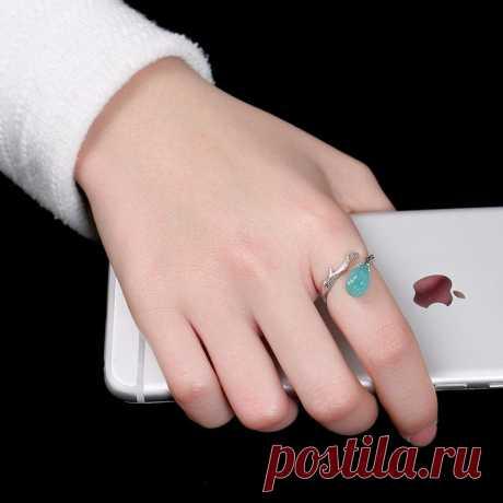 Green natural Tianhe Stone Ring-925 Silver Inlay Ring-Branch | Etsy