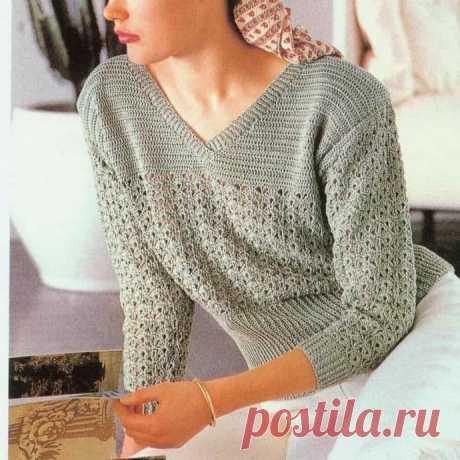 Нежный пуловер для уютной осени
