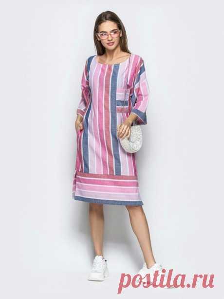 Простые летние платья из натуральных тканей - для вдохновения. Подборка фото Шитье | простые выкройки | простые вещи  #простыевещи #шитье #платье #длявдохновения #экоткань #лен #хлопок #натуральныеткани