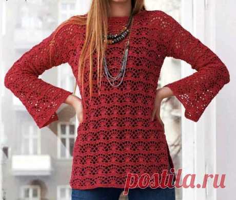 Вижу, что красивая кофточка крючком магазин пряжи. на зиму это очень элегантная блузка. - Узоры крючком бесплатно