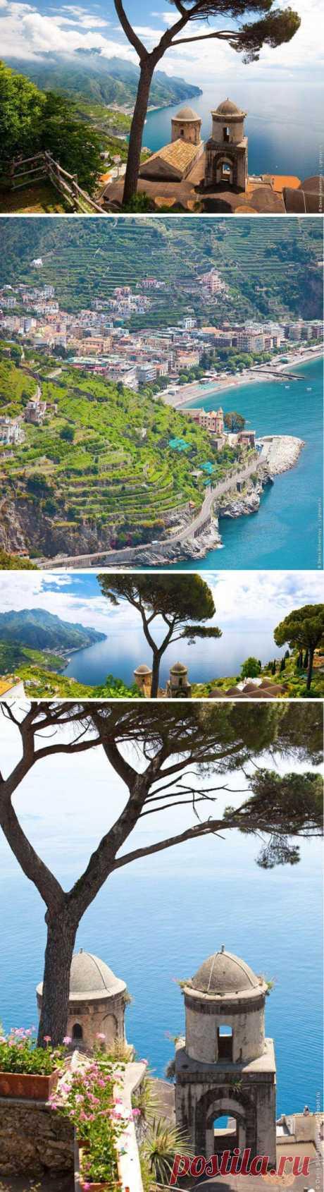 """Одна из жемчужин Амальфийского побережья. Красоты и расположение этого курорта привлекало очень много людей творческих профессий. Поэт Андре Жид охарактеризовал город всего 3 словами - """"Между небом и землей"""". И неспроста, т.к. город Равелло (Италия) находится на высоте 350 метров."""