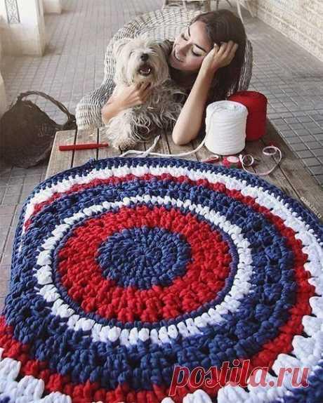 Вяжем коврики