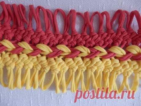 Соединение полос на вилке | Видео | Вязание спицами и крючком. Схемы вязания.