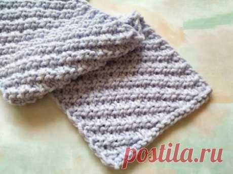Вяжем двусторонний теплый шарф спицами » «Хомяк55» - всё о вязании спицами и крючком