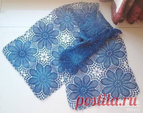 3 узора крючком для вязания шарфов, палантинов