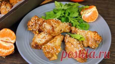 Куриные крылышки по китайскому рецепту в апельсиновой глазури с кунжутом - Кулинарный Блог - медиаплатформа МирТесен