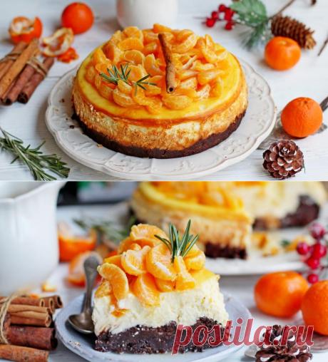Чизкейк с пряными мандаринами, пошаговый рецепт с фото
