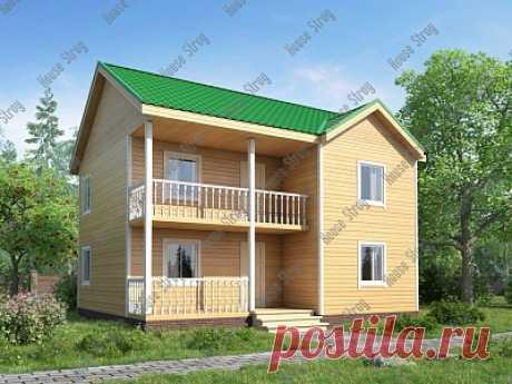 Мне очень понравилась планировка. Двухэтажный коттедж из бруса 8х9 Дион - строим в Москве и Питере