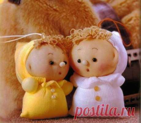 Куколки из капроновых чулков — Рукоделие