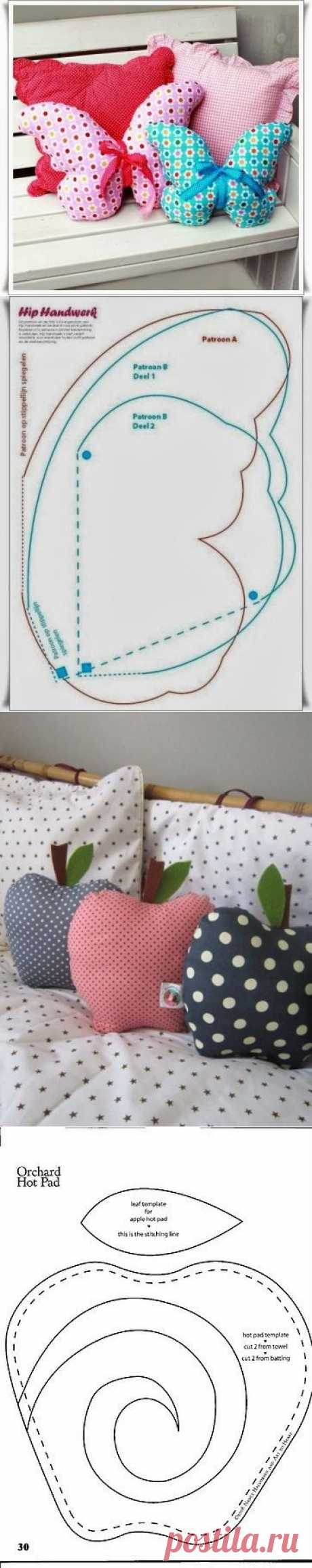Ideas for pillows + PATTERNS \/ Various toys of handwork \/ PassionForum - master classes in needlework