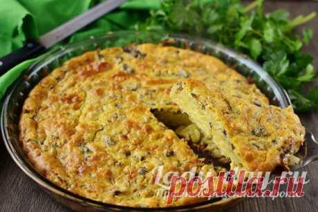 Пирог с сайрой консервированной и картофелем, пошаговый рецепт | Простые рецепты с фото