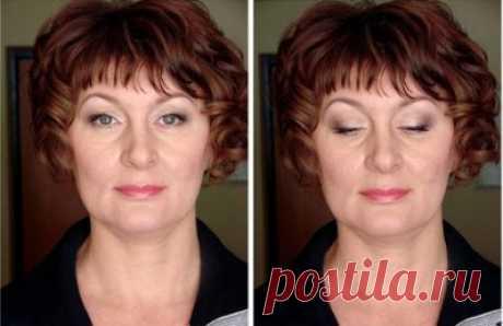 Возрастной макияж пошаговое фото Как делать возрастной макияж пошаговое фото. Как правильно наносить косметику женщинам после 40 лет. Примеры антивозрастного макияжа на фото.