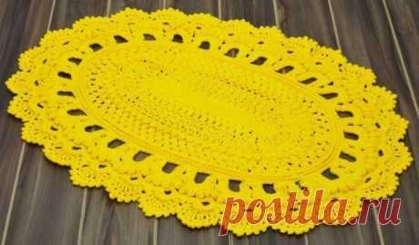 Солнечный коврик овальной формы