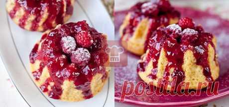 Кексы с персиком и малиной | Кулинарный журнал Stay Delicious