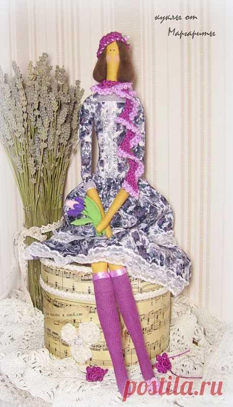 Интерьерная кукла Виолетта!рост 52см.