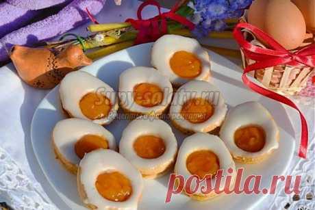 Пасхальное лимонное печенье в виде яиц. Рецепт с пошаговыми фото