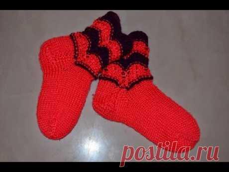 Вяжем. Ажурные носочки