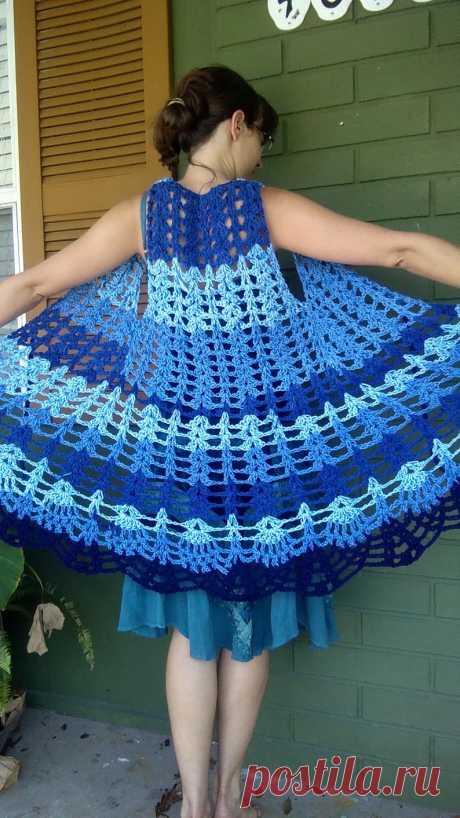 PATTERN Pineapple Maxi Vest Long Crochet Vest Fan Lace   Etsy