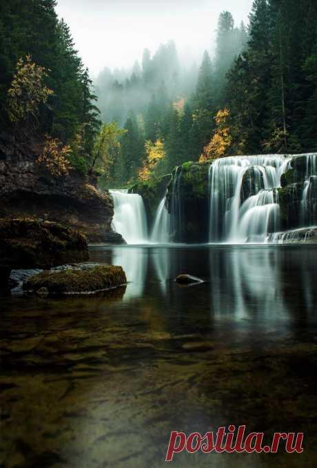 Into the Mystic, lower river Falls, Northwest, Washington, USA.