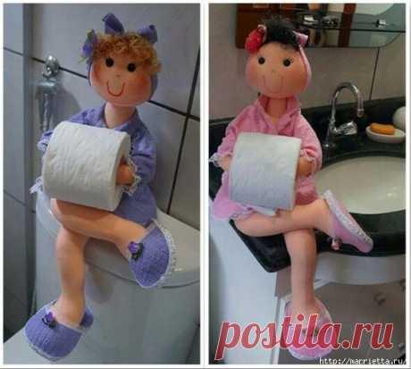 Текстильные куклы - держатели туалетной бумаги. Выкройки
