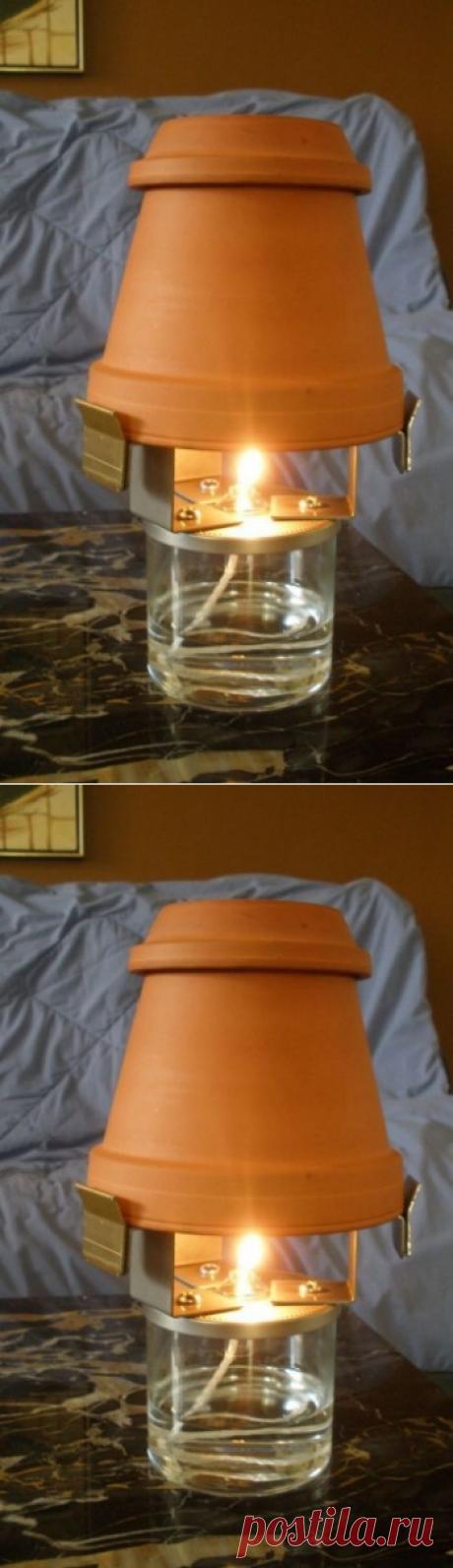 Как отопить комнату одной свечой