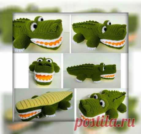 Амигуруми крокодил крючком с описанием схемы вязания Амигуруми крокодил вяжется крючком 2 и акриловой пряжи. Схема вязания простая и интересная. Интересная идея для необычного подарка любителям крокодилов. С