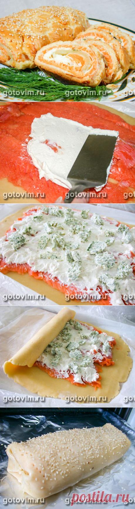 El pastel-panecillo con el pez. La Foto-receta \/ Готовим.РУ