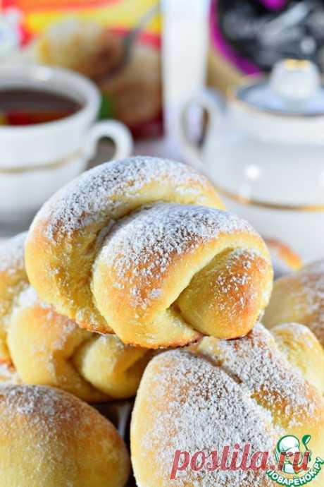 Сахарные постные булочки - кулинарный рецепт
