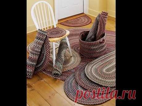 Как связать коврик  из старых вещей для дома, дачи