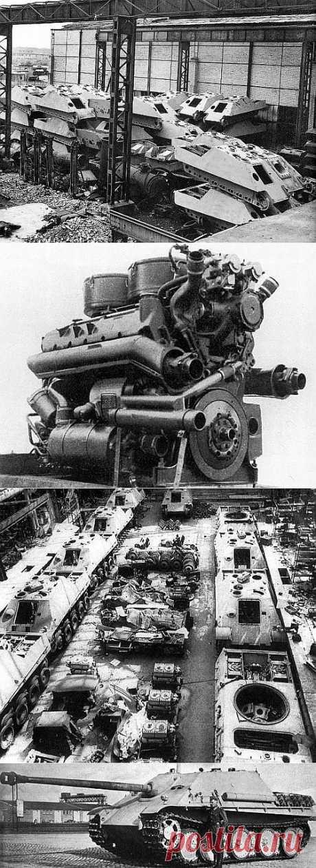 Ягдпантера в сборочном цеху. https://feldgrau.info/index.php/engines/8676-yagdpantera-v-sborochnom-tsekhu