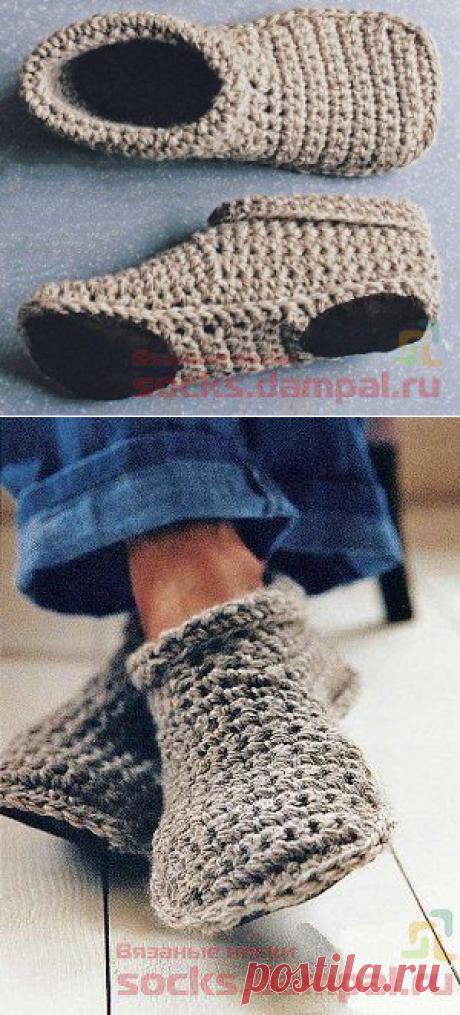 Уютные домашние тапочки «Toasty Toes» | ВЯЗАНЫЕ НОСКИ